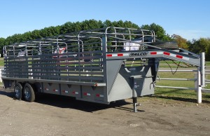 Delco 24ft stock trailer